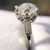 2.91ct Old European Cut Diamond Art Deco Ring GIA L VS 8