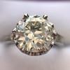 2.91ct Old European Cut Diamond Art Deco Ring GIA L VS 26