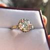 2.91ct Old European Cut Diamond Art Deco Ring GIA L VS 10