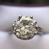 2.91ct Old European Cut Diamond Art Deco Ring GIA L VS 27