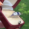 .40ctw 3-Stone Sapphire and Diamond Band by Relais 6