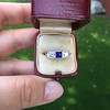 .40ctw 3-Stone Sapphire and Diamond Band by Relais 7