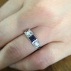 .40ctw 3-Stone Sapphire and Diamond Band by Relais 10