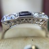 .40ctw 3-Stone Sapphire and Diamond Band by Relais 5