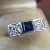 .40ctw 3-Stone Sapphire and Diamond Band by Relais 11