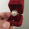 3.45ctw Antique Rose Cut Cluster Ring 19