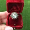 3.45ctw Antique Rose Cut Cluster Ring 22