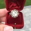 3.45ctw Antique Rose Cut Cluster Ring 21