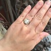 3.45ctw Antique Rose Cut Cluster Ring 7