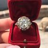 3.45ctw Antique Rose Cut Cluster Ring 25