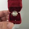 3.45ctw Antique Rose Cut Cluster Ring 18