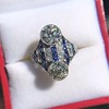 3.08ctw Edwardian Toi et Moi OEC and Sapphire Ring 11