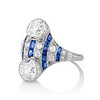 3.08ctw Edwardian Toi et Moi OEC and Sapphire Ring 1