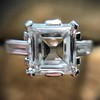 3.11ct Art Deco Step Cut Diamond Ring GIA F VS2 20