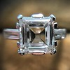 3.11ct Art Deco Step Cut Diamond Ring GIA F VS2 3