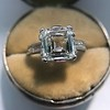 3.11ct Art Deco Step Cut Diamond Ring GIA F VS2 0