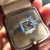 3.11ct Art Deco Step Cut Diamond Ring GIA F VS2 5