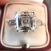 3.11ct Art Deco Step Cut Diamond Ring GIA F VS2 15
