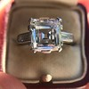 3.11ct Art Deco Step Cut Diamond Ring GIA F VS2 8