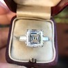 3.11ct Art Deco Step Cut Diamond Ring GIA F VS2 14