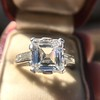 3.11ct Art Deco Step Cut Diamond Ring GIA F VS2 12