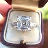 3.11ct Art Deco Step Cut Diamond Ring GIA F VS2 16