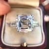 3.11ct Art Deco Step Cut Diamond Ring GIA F VS2 6