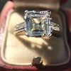 3.11ct Art Deco Step Cut Diamond Ring GIA F VS2 1