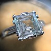 3.11ct Art Deco Step Cut Diamond Ring GIA F VS2 21