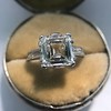 3.11ct Art Deco Step Cut Diamond Ring GIA F VS2 2