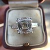 3.11ct Art Deco Step Cut Diamond Ring GIA F VS2 17