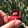 3.12ct Old European Cut Diamond Ruby Halo Ring, GIA L  11