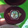 3.12ct Old European Cut Diamond Ruby Halo Ring, GIA L  18