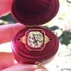 3.12ct Old European Cut Diamond Ruby Halo Ring, GIA L  0