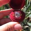 3.12ct Old European Cut Diamond Ruby Halo Ring, GIA L  9