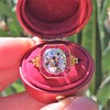 3.12ct Old European Cut Diamond Ruby Halo Ring, GIA L  10