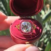 3.12ct Old European Cut Diamond Ruby Halo Ring, GIA L  12