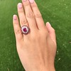 3.27ctw Burma No-heat Ruby Cluster Ring, GIA cert 12