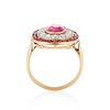 3.27ctw Burma No-heat Ruby Cluster Ring, GIA cert 4