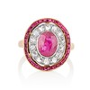 3.27ctw Burma No-heat Ruby Cluster Ring, GIA cert 0