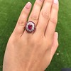 3.27ctw Burma No-heat Ruby Cluster Ring, GIA cert 14