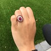 3.27ctw Burma No-heat Ruby Cluster Ring, GIA cert 19