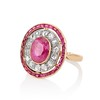 3.27ctw Burma No-heat Ruby Cluster Ring, GIA cert 1