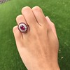 3.27ctw Burma No-heat Ruby Cluster Ring, GIA cert 13