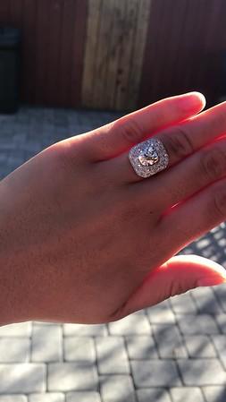 3.29ctw Art Deco Cushion Cut Diamond Double Frame Ring GIA L VS