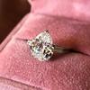 3.24ct Antique Pear Shape Diamond Ring, GIA I VS2 1