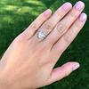 3.24ct Antique Pear Shape Diamond Ring, GIA I VS2 16