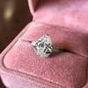 3.24ct Antique Pear Shape Diamond Ring, GIA I VS2 3