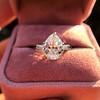 3.24ct Antique Pear Shape Diamond Ring, GIA I VS2 15