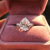 3.24ct Antique Pear Shape Diamond Ring, GIA I VS2 12